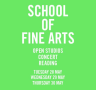 School of fine arts – Open studios, concert, reading